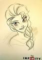 Elsa डिज़्नी Infinity Concept Art