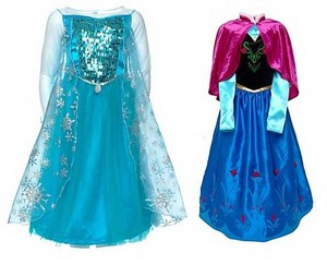 Elsa and Anna costumes from Disney Store
