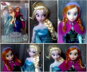 Elsa and Anna muñecas
