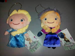 Elsa and Anna plush coin purses
