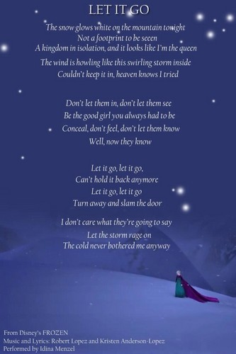 Elsa the Snow क्वीन वॉलपेपर called Let it Go Lyrics