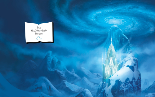 Frozen wallpaper entitled Elsa's ice castle