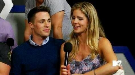 Emily Bett Rickards wallpaper titled Emily And Colton