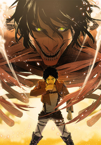 Shingeki no Kyojin (Attack on Titan) Hintergrund called Eren Jeager