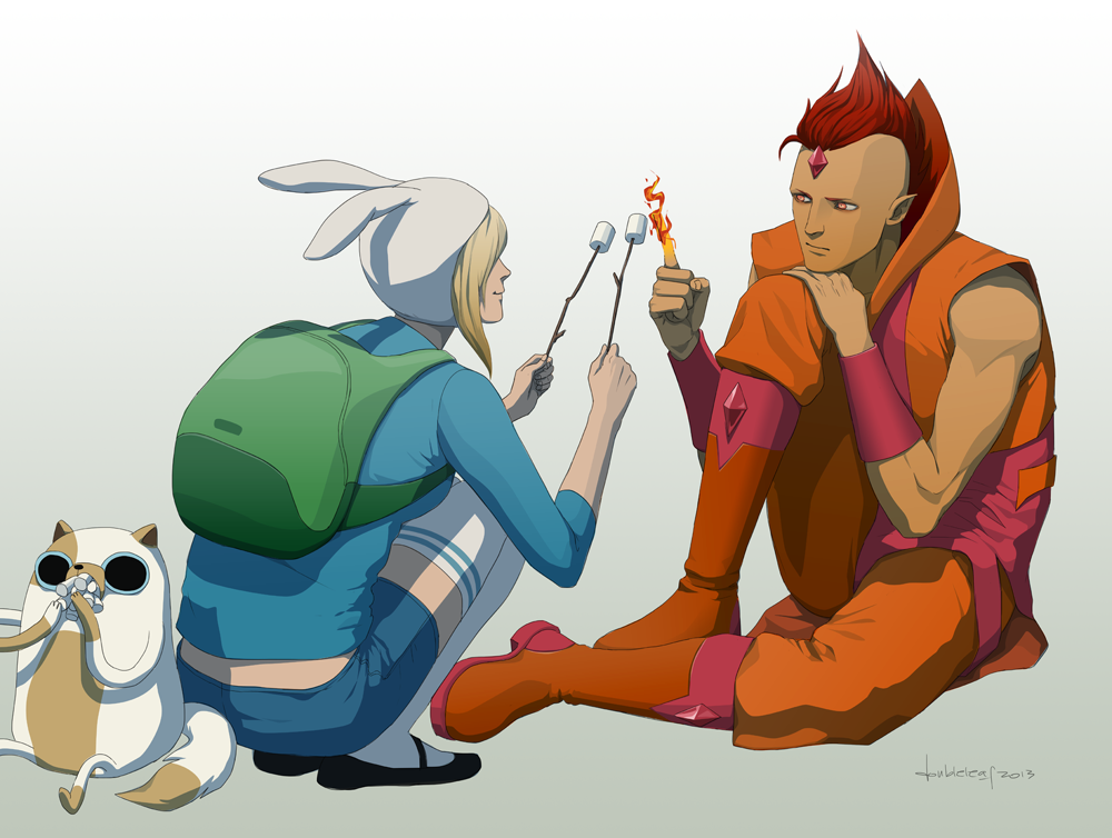 Dadventure Time Fionna And Cake Fan Art