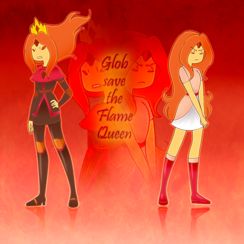 Adventure Time With Finn and Jake wolpeyper possibly containing anime titled Flame Queen...or Flame Princess?