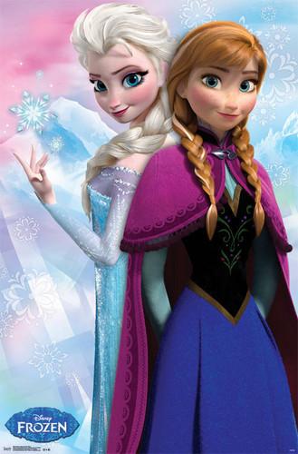 Frozen kertas dinding called Frozen Elsa and Anna Poster