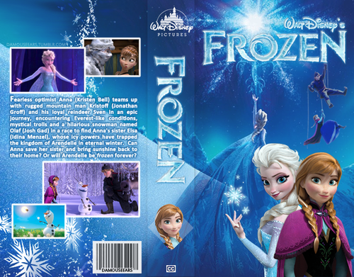 Elsa the Snow Queen karatasi la kupamba ukuta titled Frozen Fanmade DVD Cover