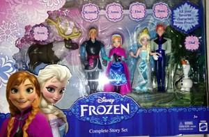 Nữ hoàng băng giá Mattel figurine set
