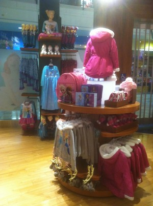Frozen Merchandise at the Disney Store