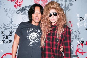 Gaga at V Magazine Party in NYC (Sept. 7)
