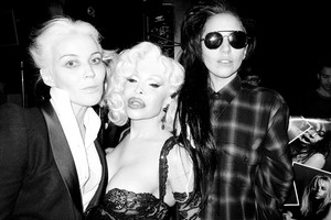 Gaga by Terry Richardson: Lady Gaga, Daphne Guiness, and Amanda Lepore #1