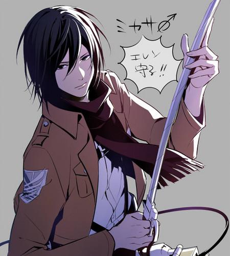 Shingeki no Kyojin (Attack on titan) karatasi la kupamba ukuta with anime entitled Gender-Bender Characters