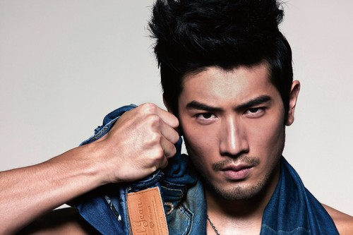 Godfrey Gao achtergrond called Godfrey for Earl Jean 13 s/s