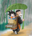 Goku and Grandpa Gohan - dragon-ball fan art