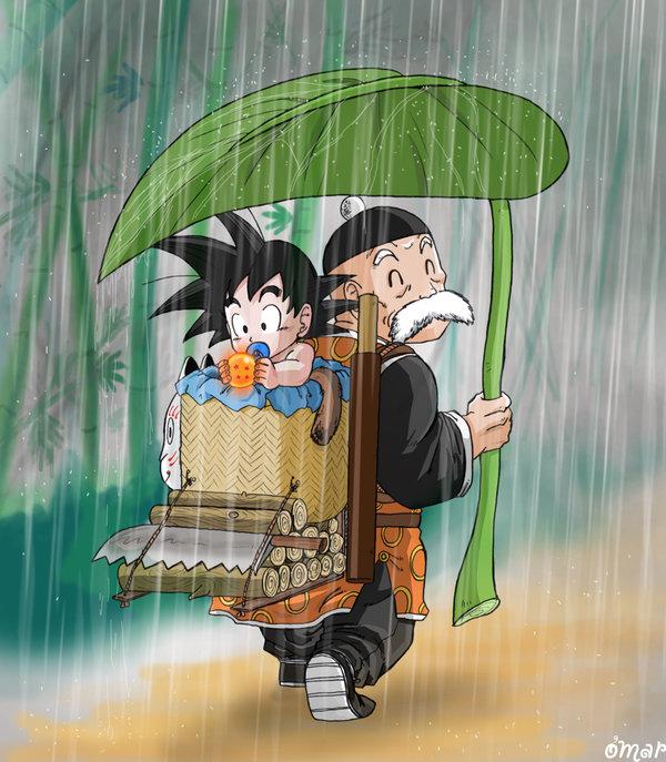 Goku and Grandpa Gohan