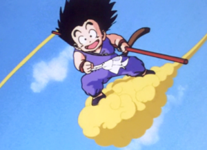 गोकु on the Flying Nimbus