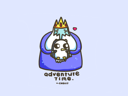 Adventure Time With Finn and Jake wallpaper called Gunter and Ice King