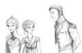 Hans, Anna and Elsa