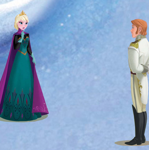 Hans wallpaper titled Hans and Elsa