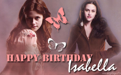 series twilight wallpaper with a portrait entitled Happy Birthday,Bella
