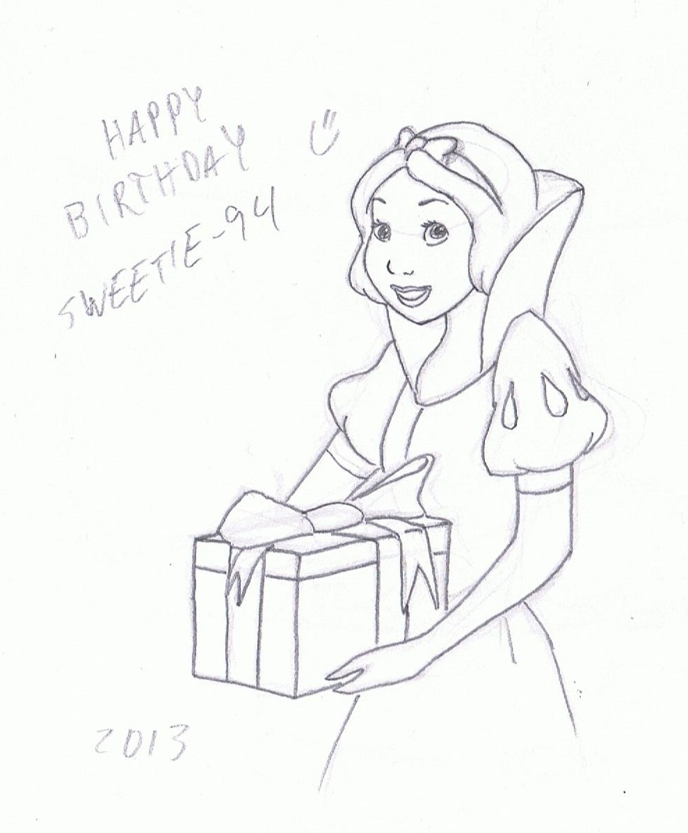 Princess coloring pages birthday - Princess Birthday Coloring Pages Party