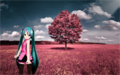 Hatsune enjoying the nature  - hatsune-miku photo