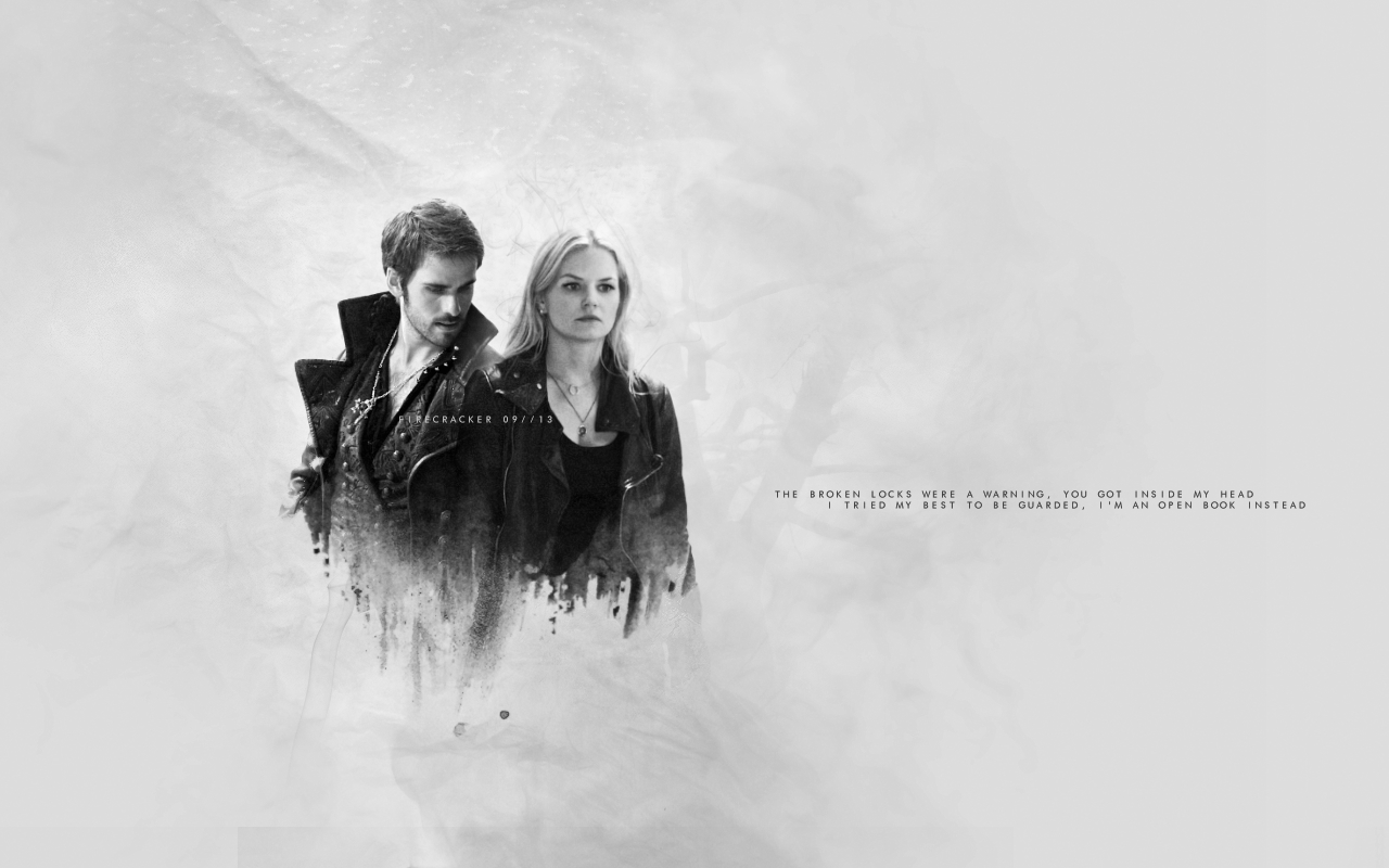 Captain Hook an... Once Upon A Time Wallpaper Captain Swan