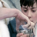 Jadis takes the hot drink from Edmund. - jadis-queen-of-narnia photo