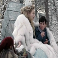 Jadis takes the rest of the Turkish Delight away from Edmund.