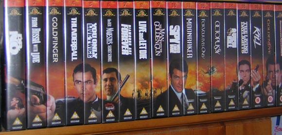 James Bond VHS Tape Collection