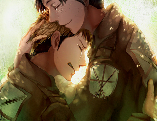 Shingeki no Kyojin (Attack on titan) wallpaper called Jean and Marco. Feels :'c