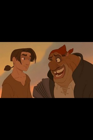 Jim Hawkins and John Silver