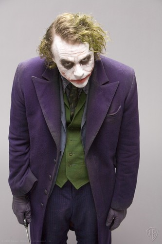 The Joker kertas dinding with a business suit and a suit entitled Joker - promo shoot for The Dark Knight