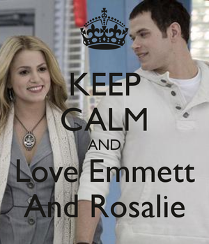 Keep Calm and l'amour Emmett and Rosalie