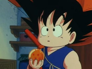 Kid Goku with the 4 star Dragon Ball