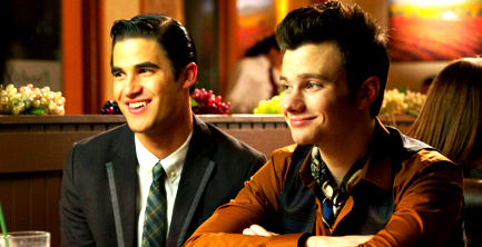 "Kurt and Blaine wallpaper containing a business suit titled Klaine ""All Or Nothing"""