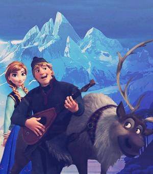 Kristoff, Anna and Sven