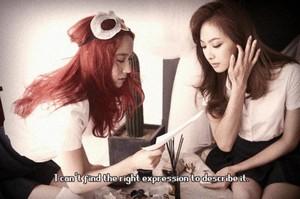 Krystal & Victoria ( F(x) ) - rose Tape