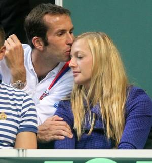 Kvitova and Stepanek kisses in the stands..