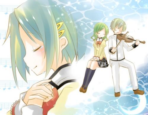 Puella Magi Madoka Magica karatasi la kupamba ukuta probably containing anime titled Kyousuke, Hitomi, & Sayaka