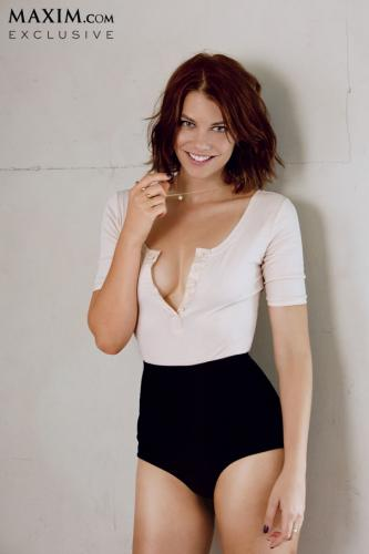 Lauren Cohan پیپر وال possibly with a maillot and a leotard called Lauren Cohan// Maxim Magazine October 2013