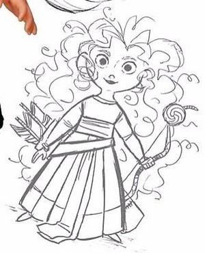 Little Merida Concept Arts