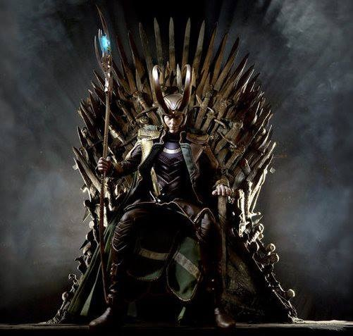Iron Throne Silhouette Loki on Throne - Loki ...