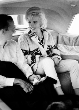 Marilyn Monroe and Wally Cox, 1962.