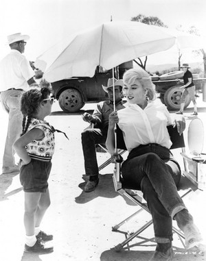 Marilyn and Montgomery (behind her)