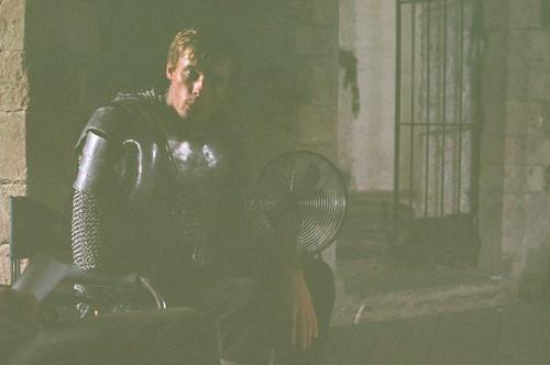 Bradley James wallpaper titled Merlin > Behind the scenes>