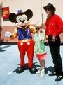 Michael And Macaulay With Mickey Mouse - michael-jackson photo