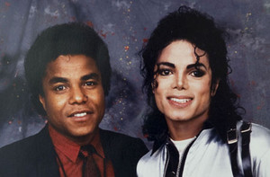 Michael And Older Brother, Tito Backstage
