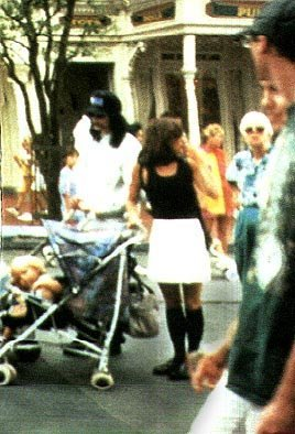 Michael Jackson And Lisa Mari Presley In Disneyland Back In 1994